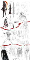 Mirage Noir Sketchdump 20140122 by Vinsuality