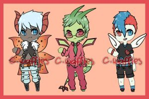 Winged pokejinka adopts [Closed] by CorruptedWaffles