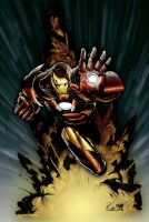 Iron Man Coloured Finished by NineteenPSG