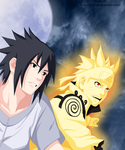 Smiling - Sasuke and Naruto by DudnxJC