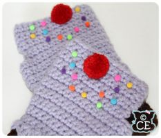 Purple Cupcake Gloves 2 by moofestgirl