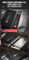 Simple Business Card Bundle 4 in 1 by VadimSoloviev