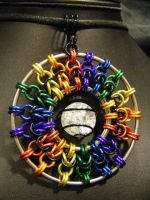 rainbow b2b pendant by BacktoEarthCreations