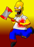 Homicide Homer by GaussianCat
