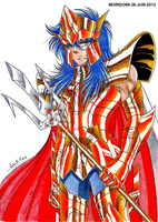JULIAN SOLO POSEIDON-SAINT SEIYA (PENCIL-COLOR) by MUERTITO69