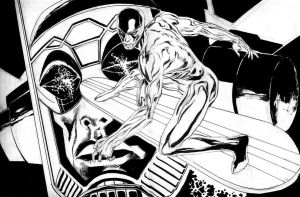 SILVER SURFER VS GALACTUS by synthetikxs