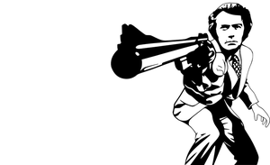 Dirty Harry Monochrome Vector by timdallinger
