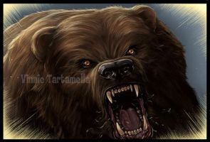 Bear attack Through the Woods by VinRoc