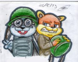 Rodent n Conker by Utsukushii-hachisu