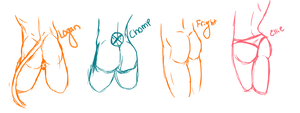 OC Asses by GuineaPixel