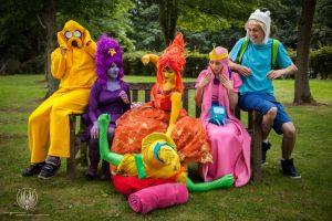 Adventure Time Cosplay Bench by faramon