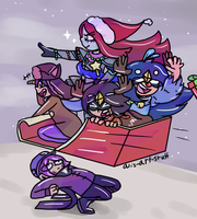 Off to save Christmas by alicupcake12356