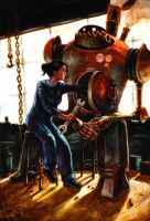 Old Steam-powered Robot by AdamHunterPeck