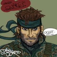 Naked Snake Sketch by bratchny