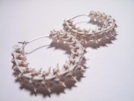Snake Vertebrae Hoop Earrings by BoneJewelry