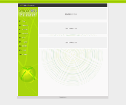 Webdesign: Xbox360-Releases by shadow288