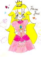 Princess Peach (newer version) by Moemiku01