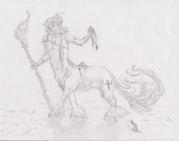 Walking Centaur by Jessadraw
