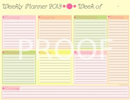 Cute Weekly Planner and Organizer by KyraStarr