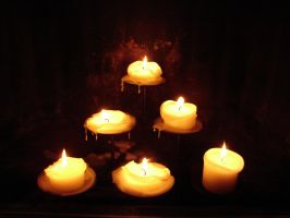 6 Pillar Candles Burned Down 2 by FantasyStock