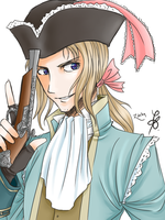 Pirate France - Hetalia by Requiem-for-Zachy