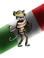 Mexican Nyan Cat by RedSnowFox