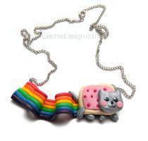 Nyan Cat Necklace by Olechka01