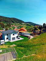 Springtime village skyline panorama by patrickjobst