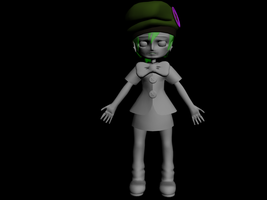 Tuff Girl Modeled in 3D by pyrestriker