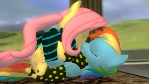 Flutterdash in socks... by Legoguy9875