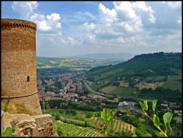 Italy - View from Orvieto by AgiVega