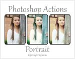 Free Photoshop Portrait Actions by ibjennyjenny