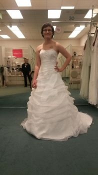 trying on wedding dresses :D by PhantomGoth