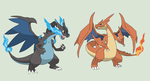 Pokemon Base 62~Mega Charizard X and Y versions~ by Xbox-DS-Gameboy