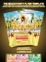 Beach Flyer Party Template by si-ajidz