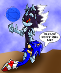 Mephiles and Sonic Colored by ShadowtehHedgehog