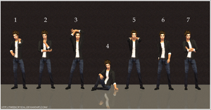 TS2: Male Posebox - DL by tweekcrystal