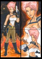 Karina Alt. Costume sketchcards by mitchatt