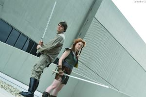 Young Jedi Knights - Jacen Solo and Tenel Ka by zhobot