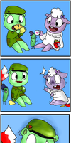 HTF- Flippy comic by AileCc