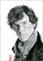 Sherlock (Benedict Cumberbatch) by ElliCrown