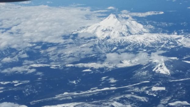 Mt. Hood from Above  by CelestialOrca