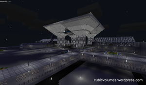 Tokyo Big Sight at night - Minetest by animelondon