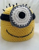 Despicable Me Minion Beanie by rainbowdreamfactory