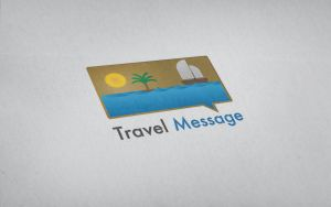 Travel message vector logo by Szesze15