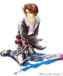Squall Leonhart fighting by Lynling