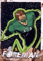 Green Lantern Sketchcard Epcon by chris-foreman