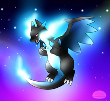 Mega Charizard X by Spice5400
