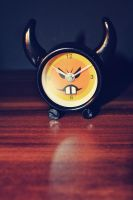 angry clock by MaithaNeyadi