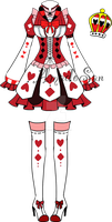 Victorian queen of hearts Outfit2 Adoptable CLOSED by AS-Adoptables